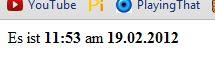 Es ist 11:53 am 19.02.2012